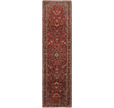 3' 4 x 13' 3 Hamedan Persian Runner Rug main image