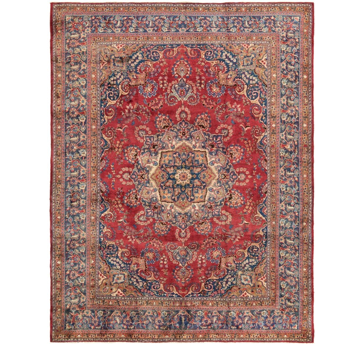 Image of 9' 10 x 12' 7 Mashad Persian Rug