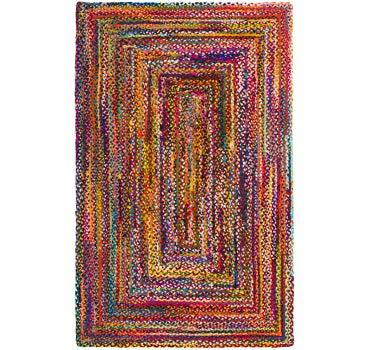 5' x 8' Braided Chindi Rug main image