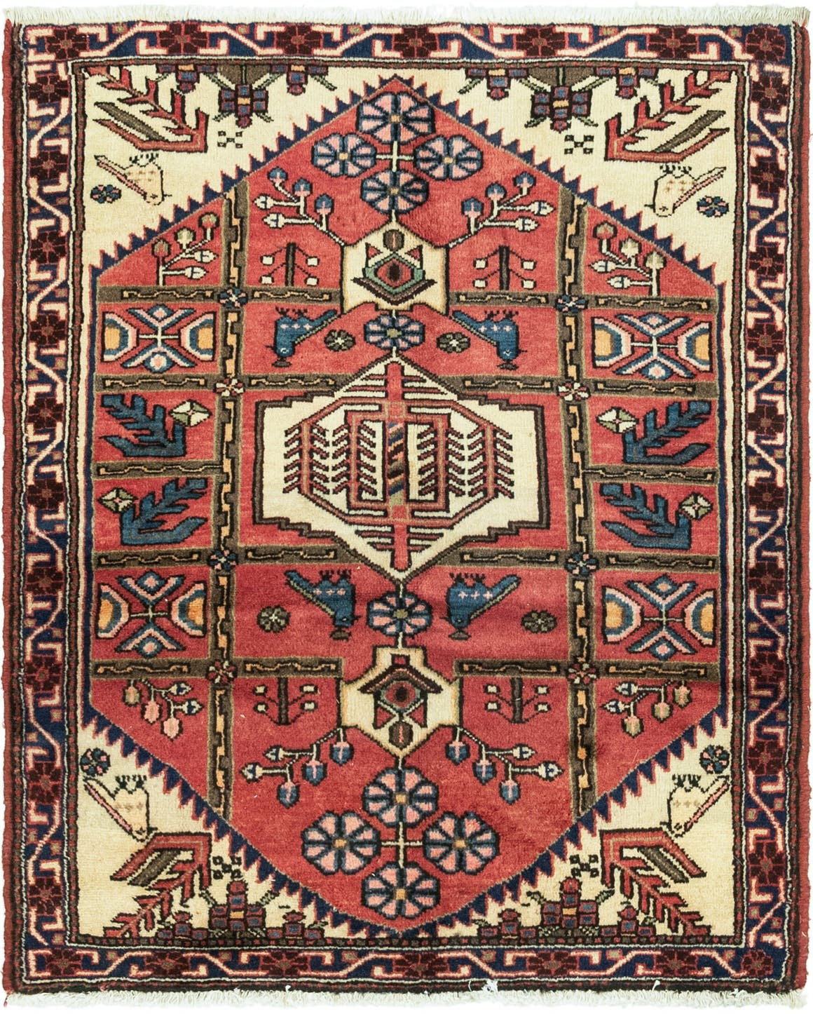 3' 7 x 4' 8 Roodbar Persian Square Rug main image