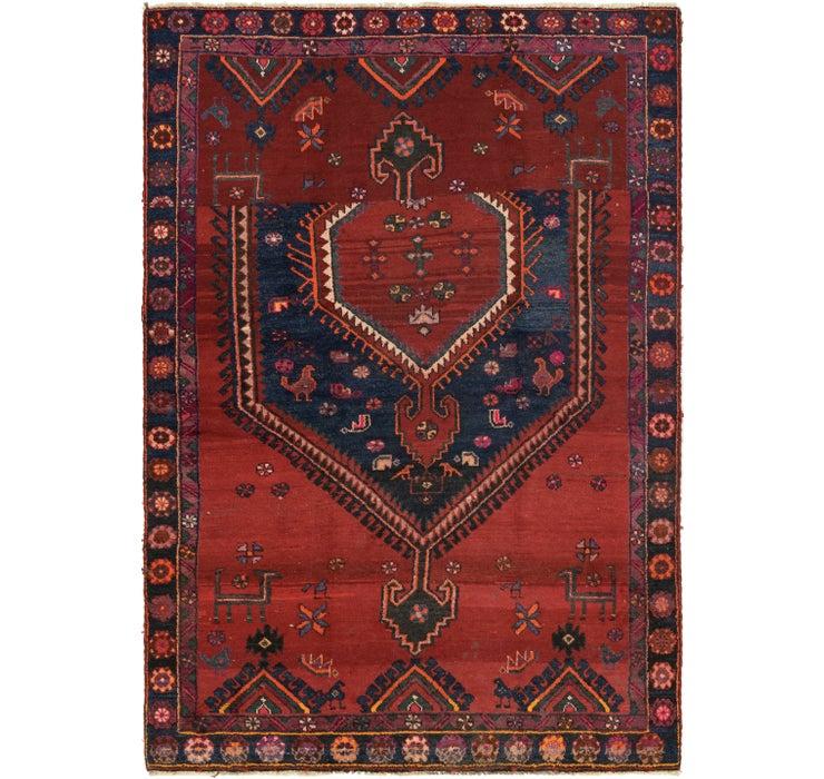 5' 3 x 7' 8 Hamedan Persian Rug