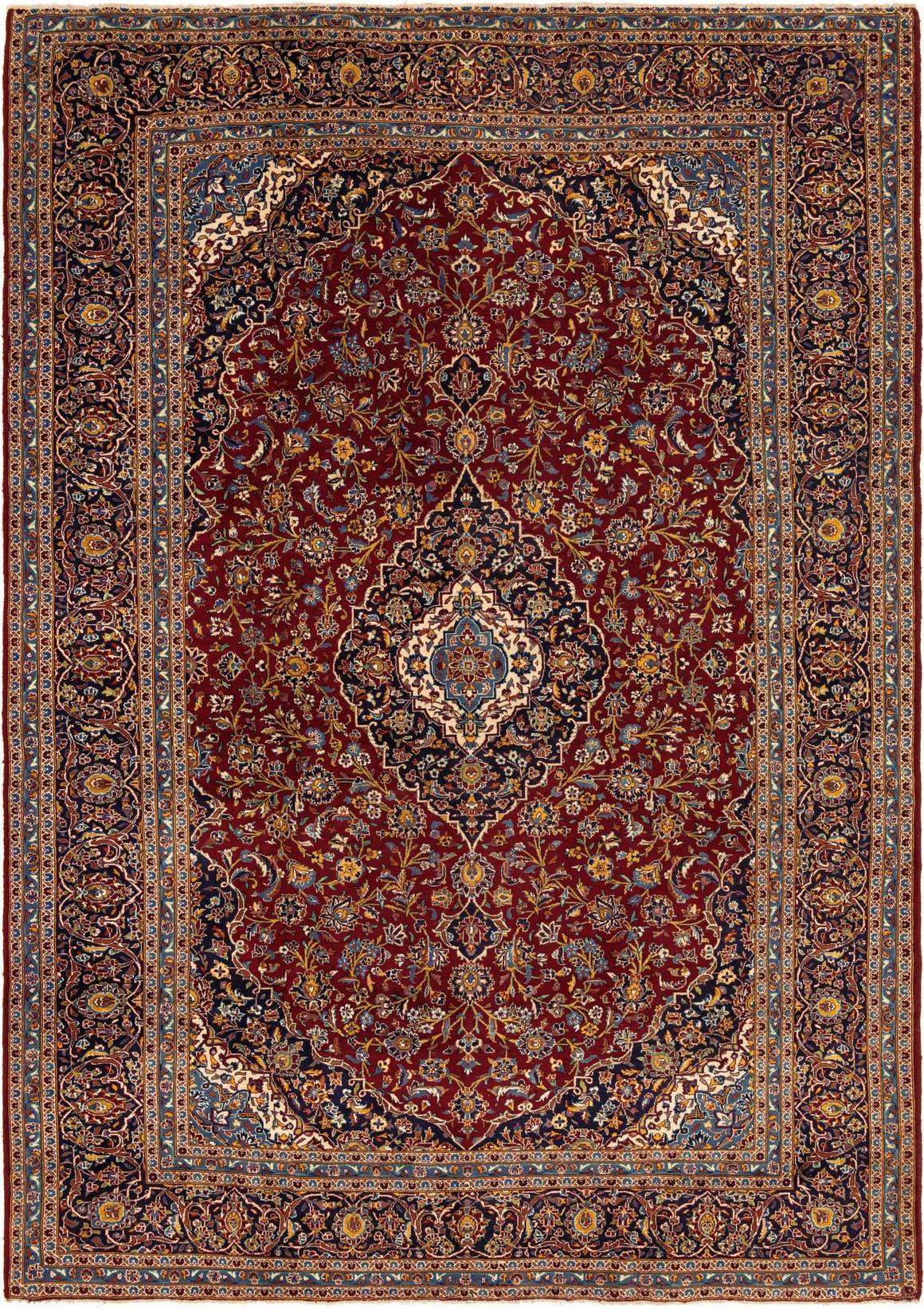 10' x 14' 2 Kashan Persian Rug main image
