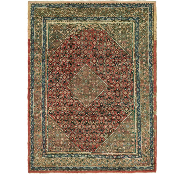 9' 8 x 13' Hossainabad Persian Rug
