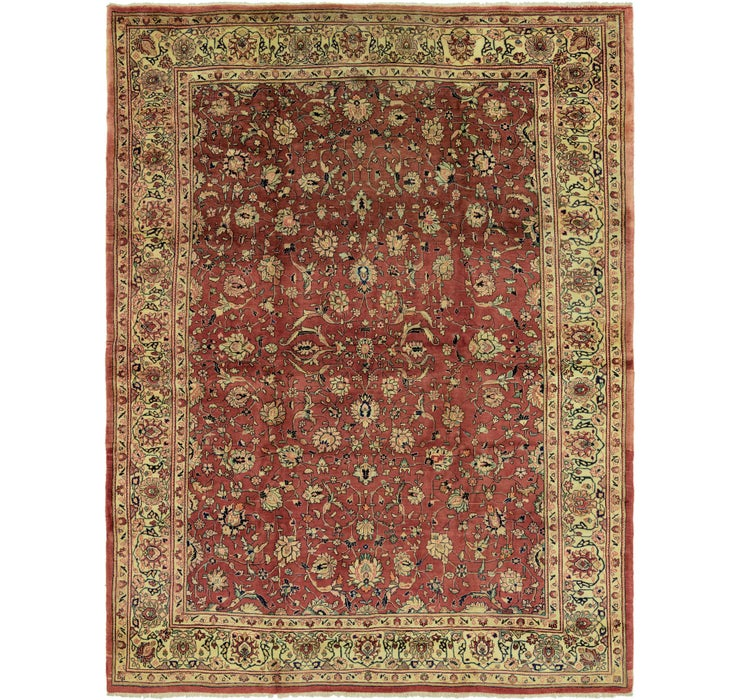 9' 5 x 12' 3 Sarough Persian Rug