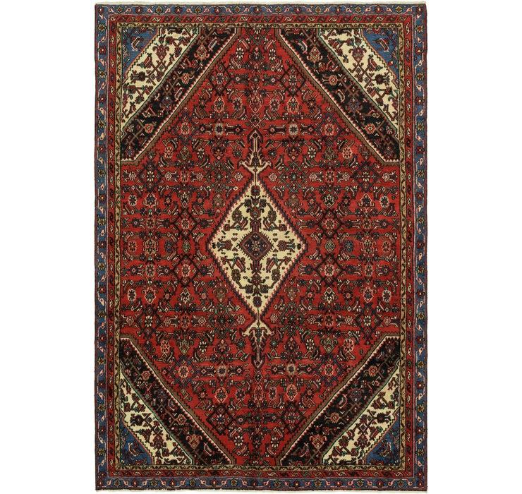 6' 9 x 10' Hamedan Persian Rug