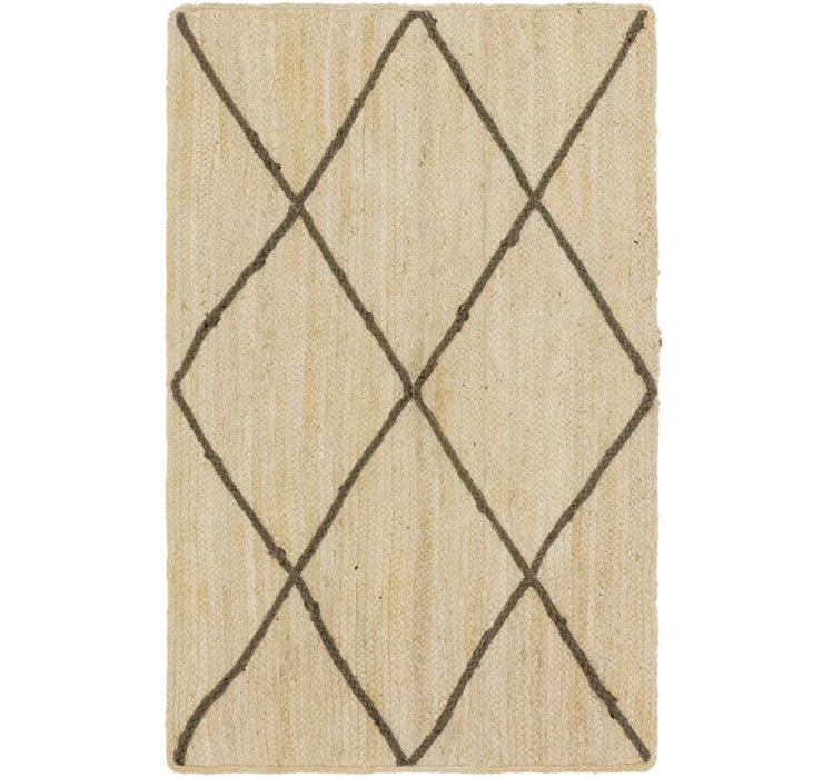 Image of 97cm x 152cm Braided Jute Rug