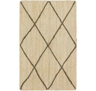 Image of 3' 2 x 5' Braided Jute Rug