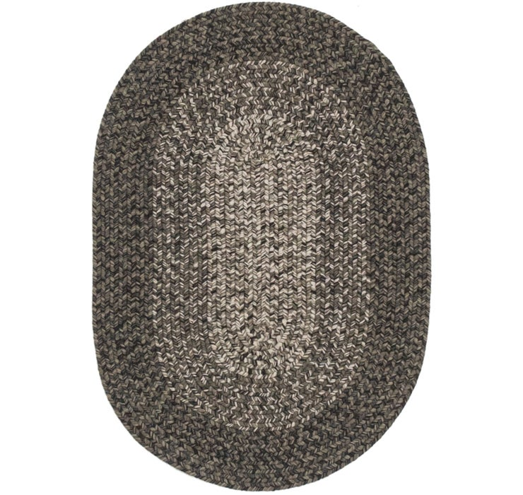 60cm x 90cm Braided Jute Oval Rug