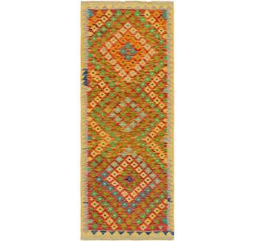 Image of 2' 5 x 6' 5 Kilim Maymana Runner Rug
