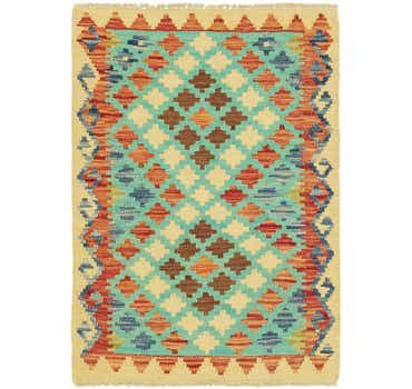 Image of 2' x 2' 10 Kilim Maymana Rug
