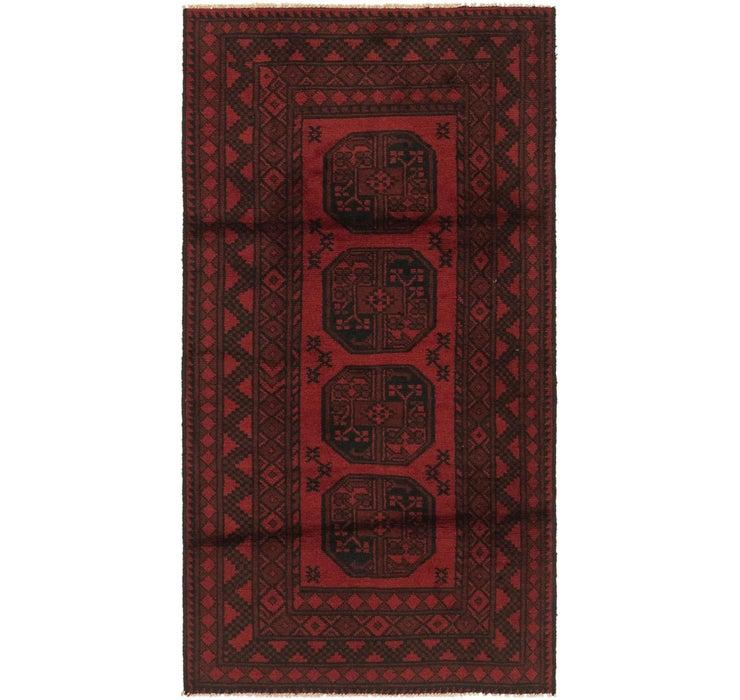 100cm x 185cm Afghan Akhche Rug