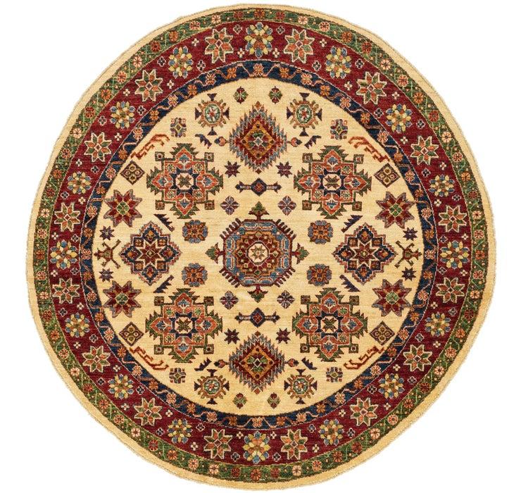 5' 2 x 5' 3 Kazak Oriental Round Rug