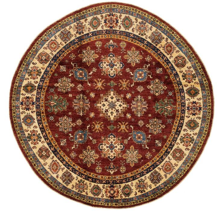 6' 8 x 6' 9 Kazak Oriental Round Rug