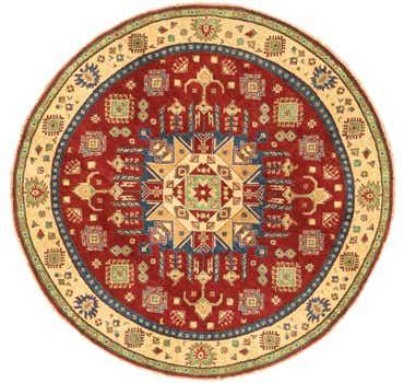 Image of 6' 6 x 6' 8 Kazak Oriental Round Rug