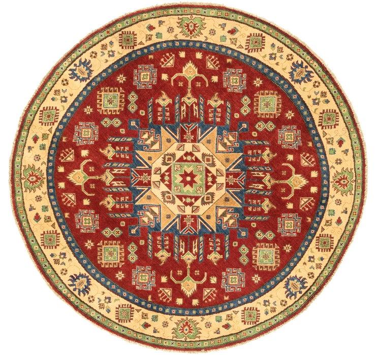 6' 6 x 6' 8 Kazak Oriental Round Rug