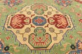 6' 2 x 6' 4 Kazak Oriental Octagon Rug thumbnail