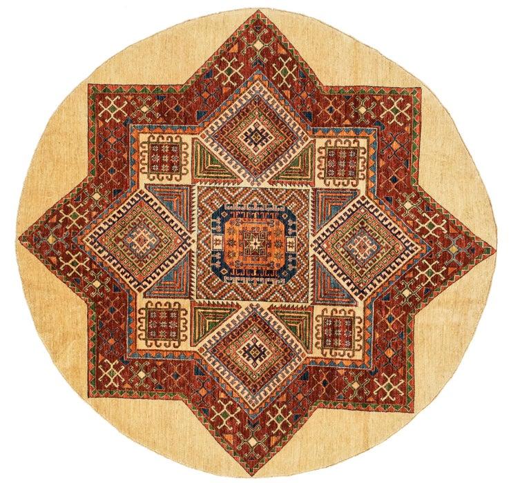 6' 7 x 6' 8 Kazak Oriental Round Rug