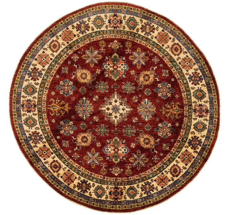 6' 9 x 6' 9 Kazak Oriental Round Rug