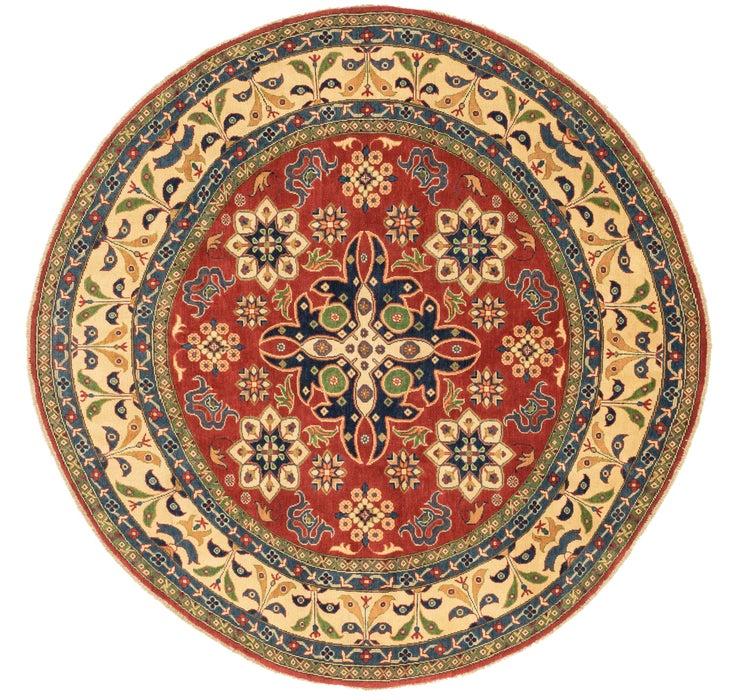 7' 11 x 8' Kazak Oriental Round Rug