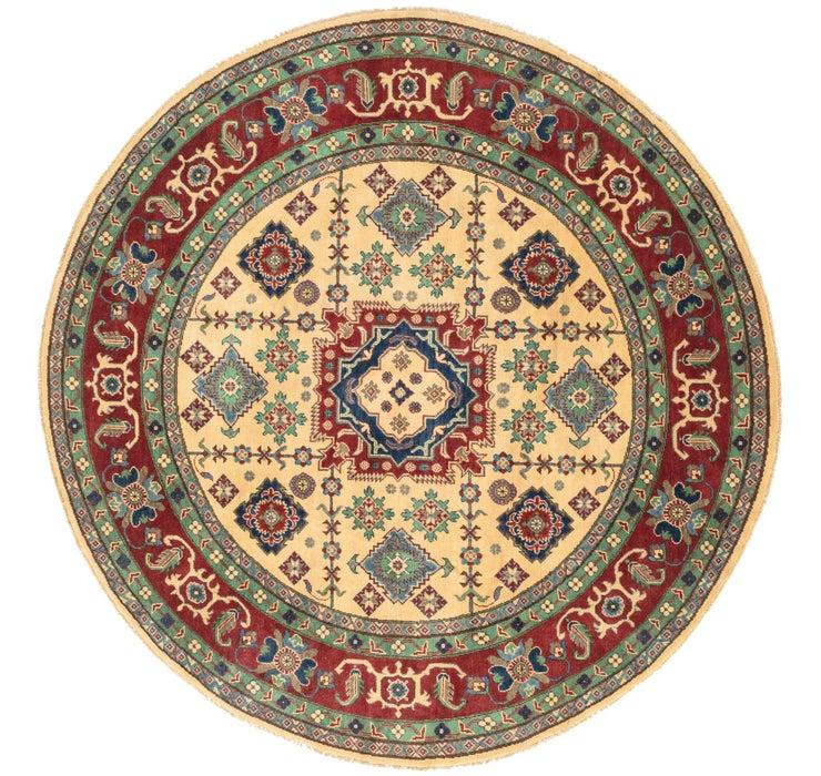 7' 11 x 8' 2 Kazak Oriental Round Rug