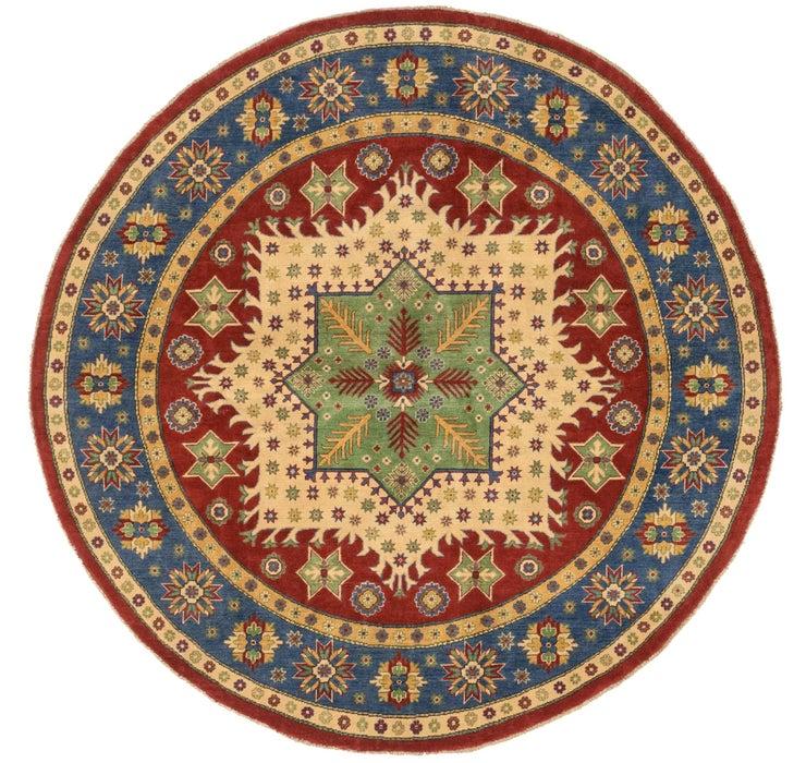 8' 1 x 8' 2 Kazak Oriental Round Rug