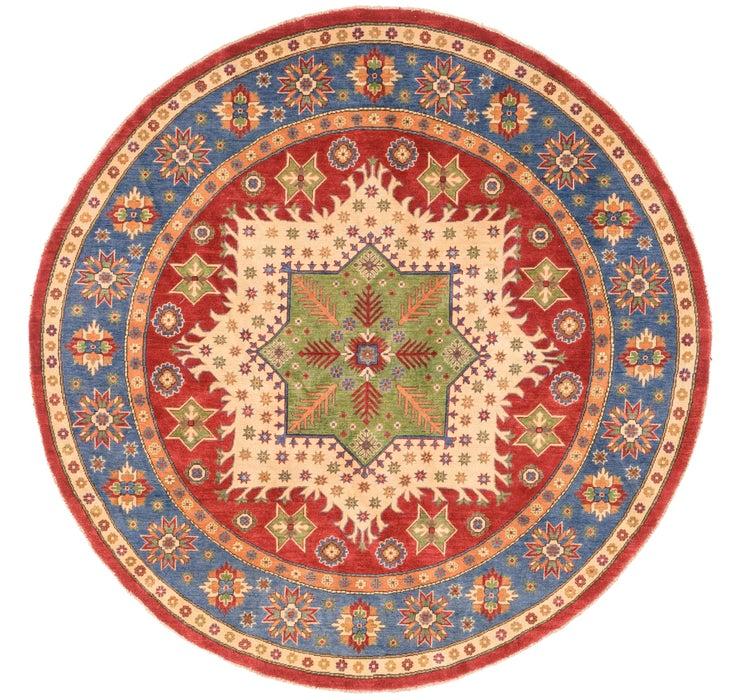 8' x 8' 2 Kazak Oriental Round Rug
