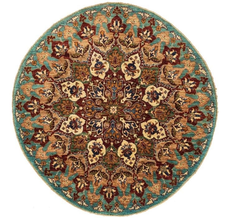 4' 3 x 4' 6 Kazak Oriental Round Rug