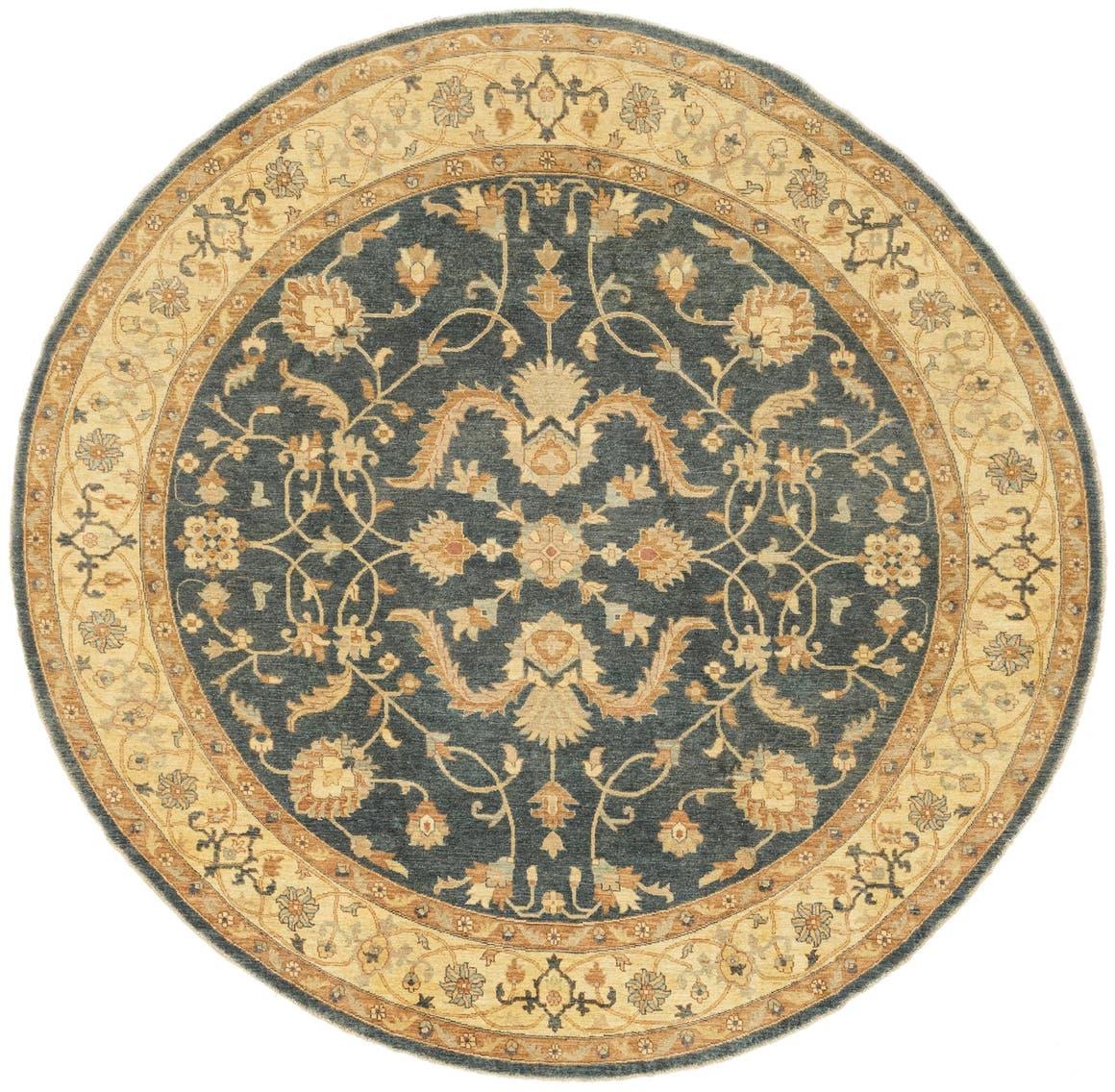 8' 11 x 8' 11 Peshawar Ziegler Round Rug main image