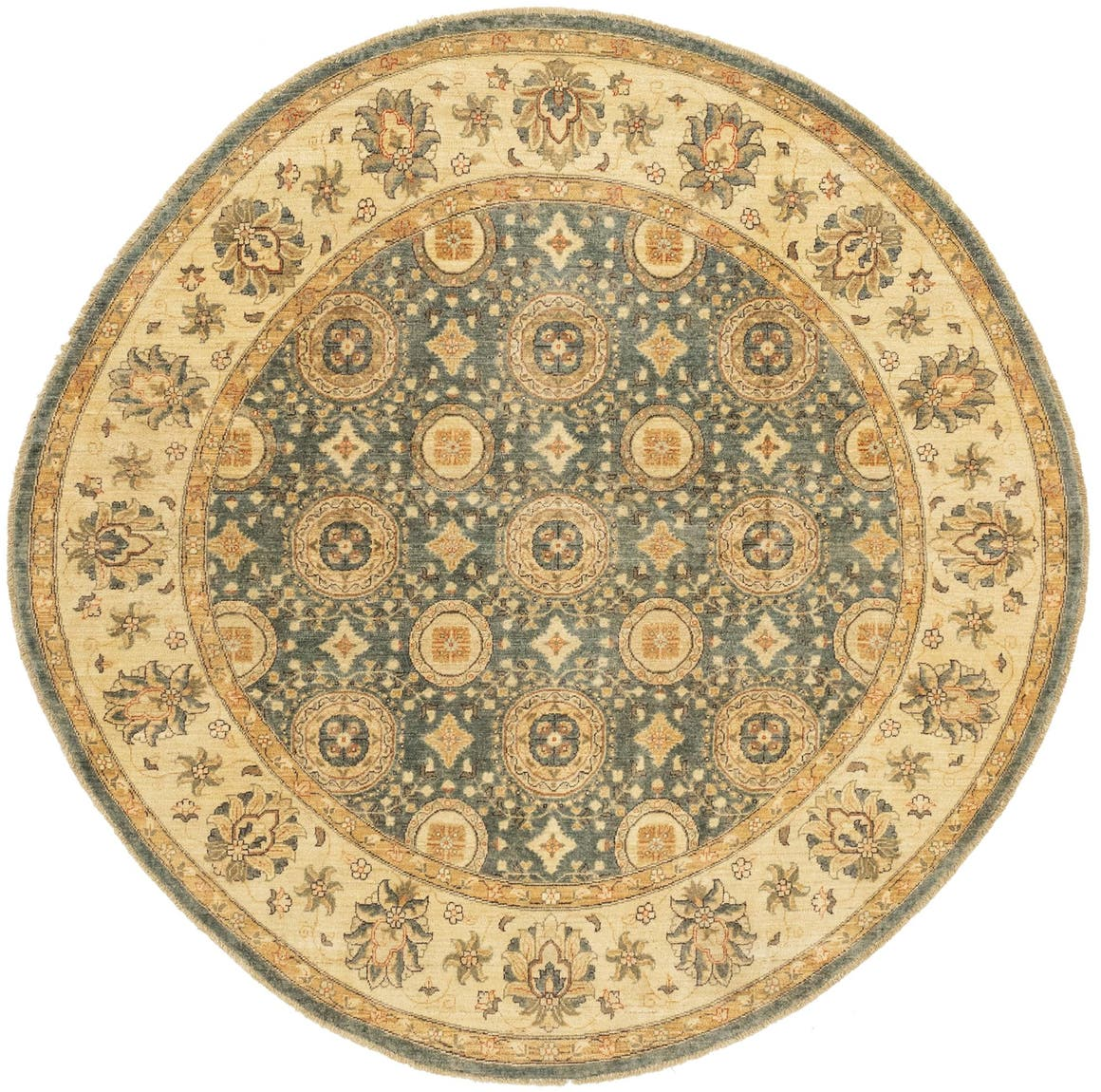 7' 10 x 7' 10 Peshawar Ziegler Round Rug main image