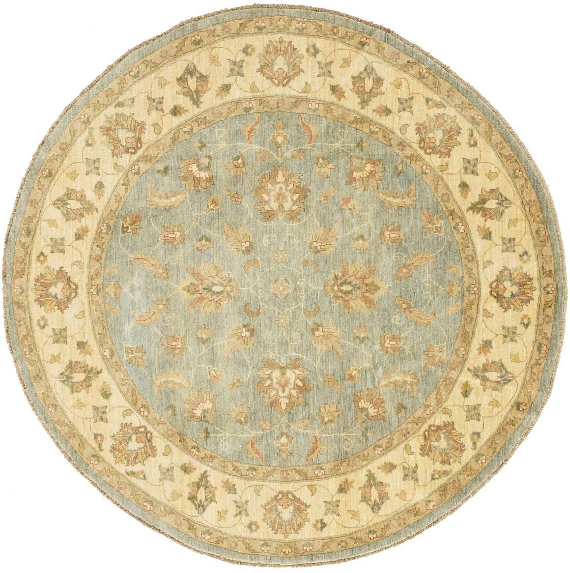 6' 8 x 6' 8 Peshawar Ziegler Round Rug main image