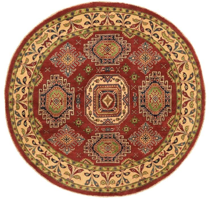 6' 5 x 6' 6 Kazak Oriental Round Rug