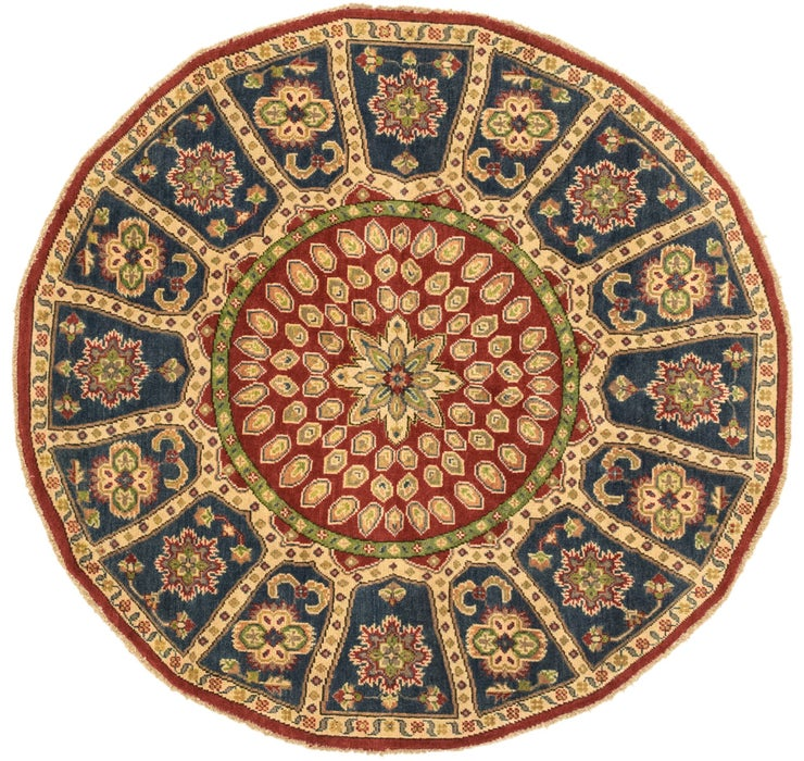 5' x 5' 3 Kazak Oriental Round Rug