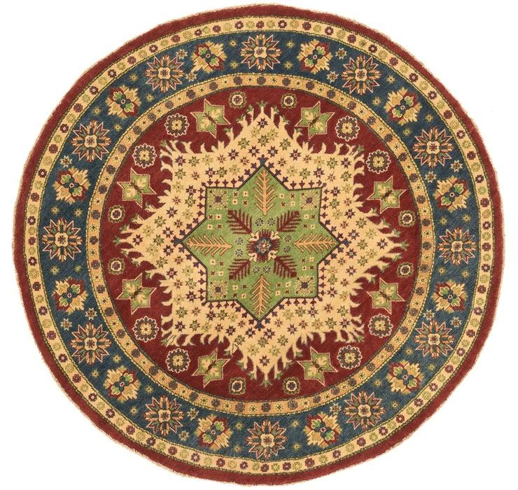 6' 6 x 6' 7 Kazak Oriental Round Rug