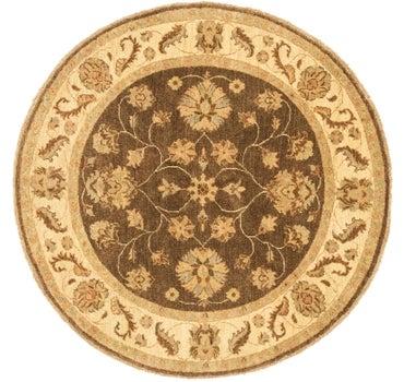 4' 8 x 4' 9 Peshawar Ziegler Round Rug main image