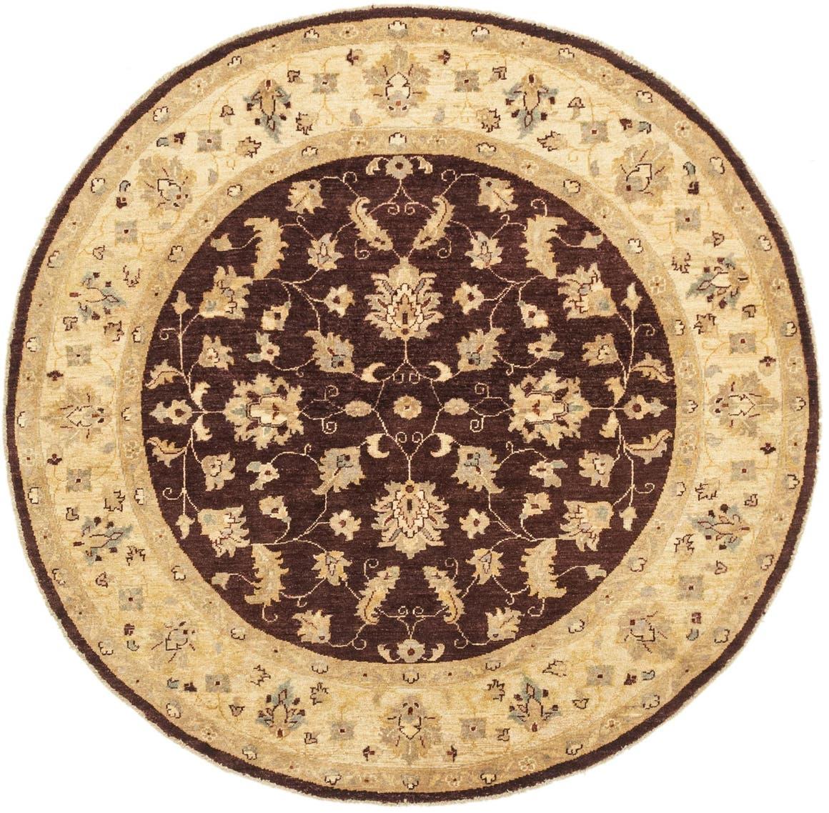 6' 1 x 6' 2 Peshawar Ziegler Round Rug main image
