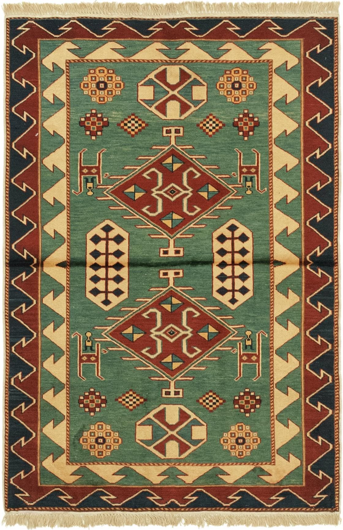 3' 2 x 4' 9 Shirvan Persian Rug main image