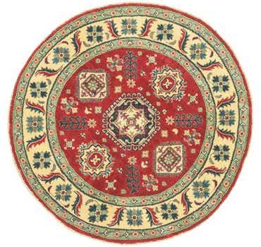 Image of 4' 11 x 5' Kazak Round Rug
