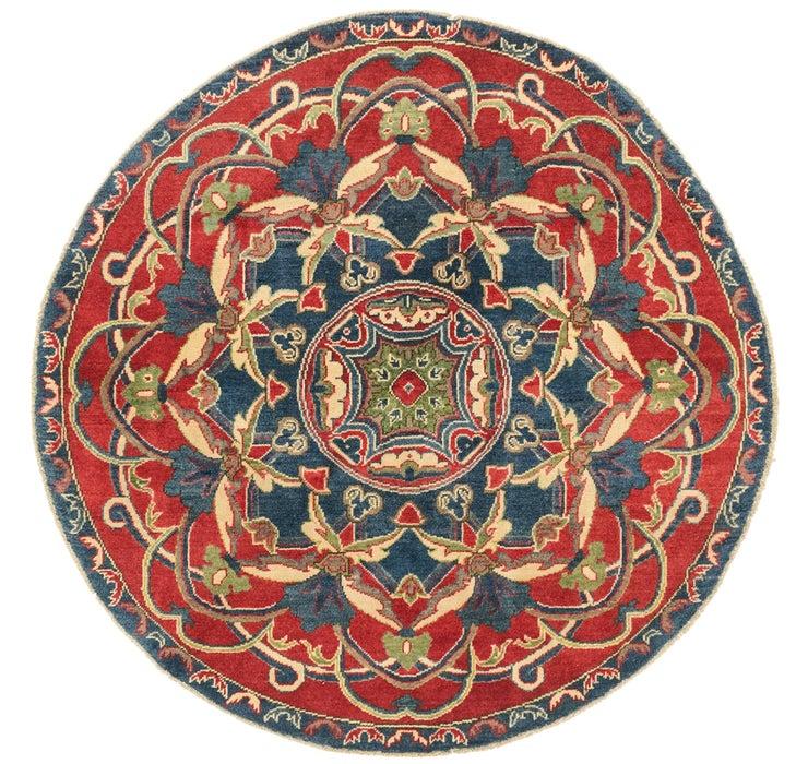155cm x 160cm Kazak Round Rug