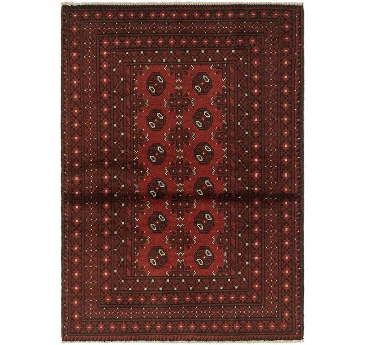 102cm x 145cm Afghan Akhche Rug