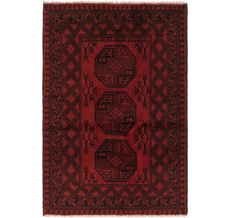 100cm x 147cm Afghan Akhche Rug
