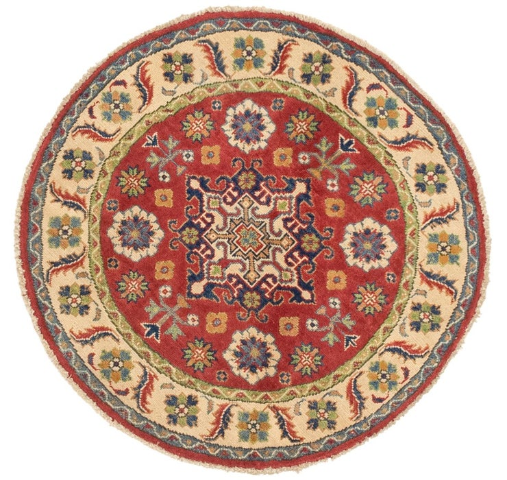 3' 3 x 3' 3 Kazak Round Rug