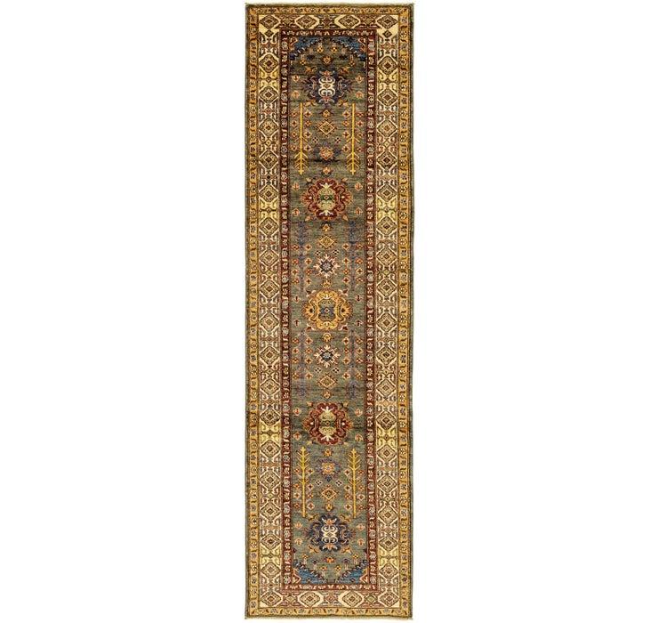 2' 7 x 10' Kazak Oriental Runner Rug