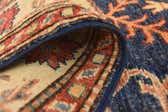 2' 8 x 9' 4 Kazak Oriental Round Rug thumbnail
