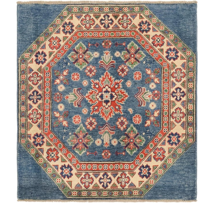 3' 3 x 3' 7 Kazak Oriental Square Rug