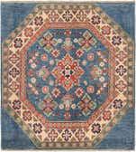100cm x 110cm Kazak Oriental Square Rug thumbnail