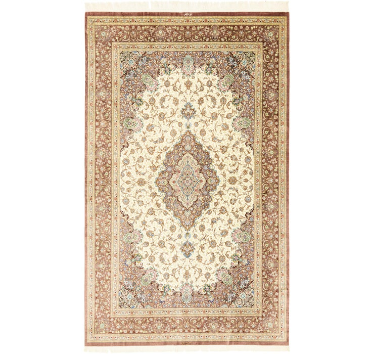 6' 4 x 10' 5 Qom Persian Rug