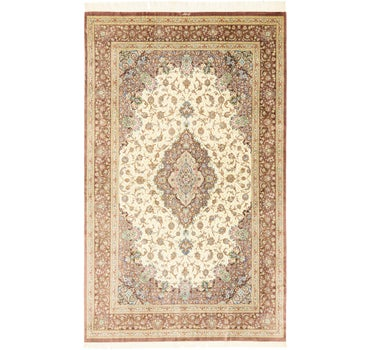 6' 4 x 10' 5 Qom Persian Rug main image