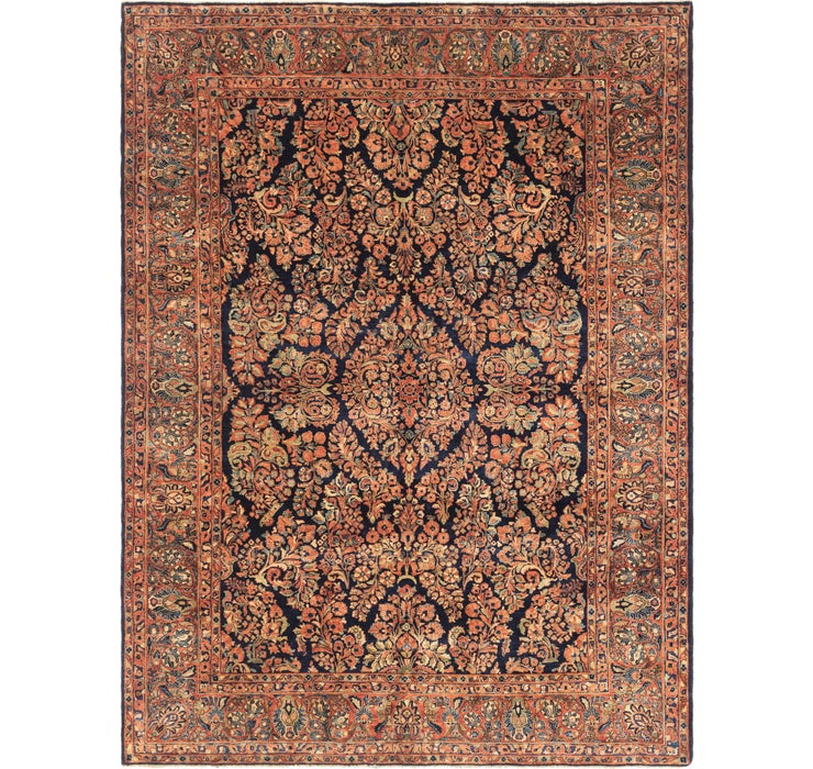 9' x 11' 8 Sarough Persian Rug