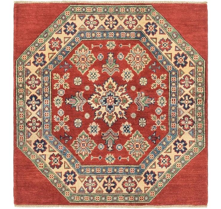 3' 3 x 3' 6 Kazak Oriental Square Rug