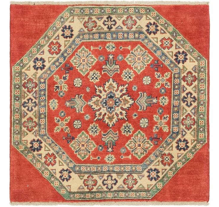 100cm x 100cm Kazak Oriental Square Rug